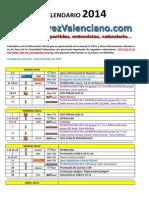 Calendario de Ajedrez Comunidad Valenciana