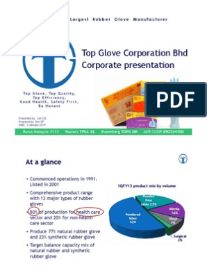 Top Glove Corporation Bhd Corporate presentation | Dividend