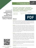 Emergence of Klebsiella pneumoniae Carbapenemase (blaKPC-2) in members of the Enterobacteriaceae family in Palestine