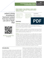Antimicrobial  resistance  patterns among  Acinetobacter  baumannii isolated  from burn intensive  care unit in Tripoli,  Liby