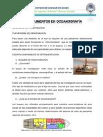 INSTRUMENTO DE OCEANOGRAFIA