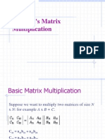 Strassen's Matrix Multiplication