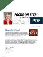 Focus on Five - Bonnie Crombie's Ward 5 E-Newsletter (Jan 7-21)