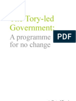 130107 - Tory-Led Govt a Programme for No Change