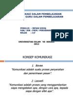 P. Point Komunikasi Dan Peran Guru Dalam Pembelajaran