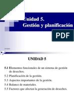 Gestión y Planificación de Desechos