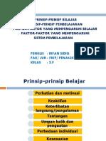 P. Point Prinsip2 Belajar Dan Pembelajaran