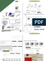 Ficha de práctica de computación primaria.