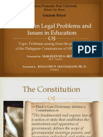 Problems arising from the provisions of the Philippine Constitution of 1935 and 1973