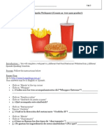 Fast Food Webquest - Spanish