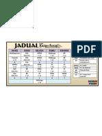 Jadual Kuliah PISMP Kajian Sosiel Sem 5/2013