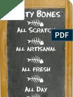 Salty Bones Menu