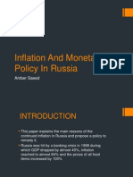 inflation and monetary policy of russia