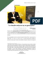 """""""La deuda externa es un genocidio""""- Entrevista a Nestor Forero"""