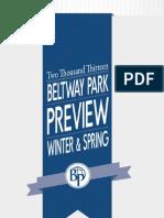 Beltway Park Winter & Spring Preview 2013