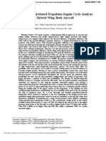 Turboelectric Distributed Propulsion Engine Cycle Analysis for Hybrid-Wing-Body Aircraft