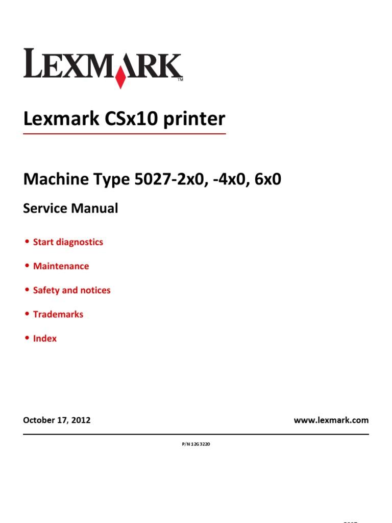 lex cs x10 5027 sm printer computing implied warranty rh scribd com lexmark t652 repair manual lexmark t652dn service manual pdf