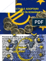 Perspectivele adoptarii euro