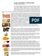 13 Alimentos Que Controlam o Colesterol Alto