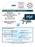 Camrose Family Resource Centre- A Parent Link Centre Winter Newsletter
