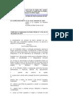 Lei Orgânica do Ministério Público Lei Complementar nº 72, de 18 de Janeiro de 1994, e suas atualizações