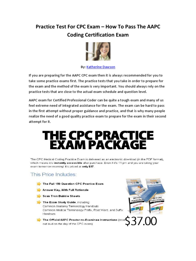 Practice Test For Cpc Exam How To Pass The Aapc Coding