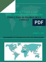 Como acceder a los mercados internacionales