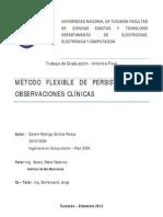 """Tesis de Grado - """"Método Flexible de Persistencia de Observaciones Clínicas"""""""