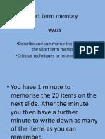 Memory Lesson