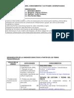 Integracion de La Movilizacion Nacional Por La Comprension Lectora en Los Carteles Diversificados