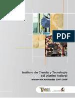 Informe ICyT-DF 2007-2009