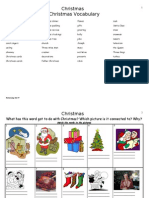 Christmas Vocabulary, Adapted for Higher Levels