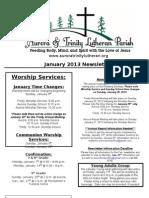 Aurora-Trinity Newsletter Jan13