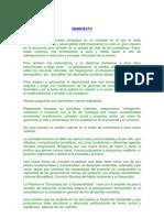 Manifiesto Plataforma Socialistas Por La Sostenibilidad