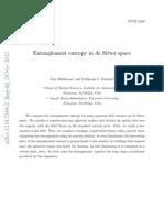 Entanglement entropy in de Sitter space
