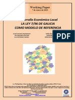 Desarrollo Económico Local. LA LEY 7/96 DE GALICIA COMO MODELO DE REFERENCIA (Es) Local Economic Development. THE GALICIAN 7/96 LAW AS  A REFERENCE MODEL (Es) Tokiko Ekonomi Garapena. GALIZIAKO 7/96 LEGEA, ERREFERENTZIA-EREDU GISA (Es)