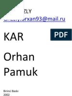 Orhan Pamuk Kar
