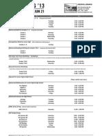 2013 Spring Schedule Cresskill