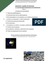 Tema El emprendedor Directores de Escuelas Particulares de Conducción