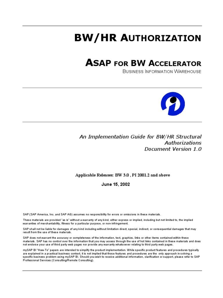 bw hr authorization business process sap se rh pt scribd com