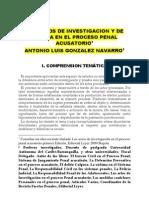 LOS ACTOS DE INVESTIGACION Y DE PRUEBA EN EL PROCESO PENAL ACUSATORIO