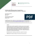 Clarifying Analysis and Interpretative in Groundel Theory