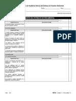 SGA-GD-FAA.03 REV 00 LISTA DE VERIFICACIÓN PARA AUDITORIAS INTERNAS