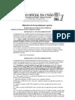 RESOLUÇÕES NºS 01 02 E 03 GARANTIA SAFRA 2013
