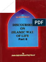 DISCOURSES ON ISLAMIC WAYS OF LIFE Vol-8