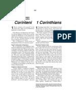 Romanian-English Bible New Testament 1 Corinthians