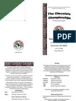 2013 Chocolate Championships Brochure