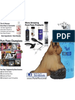 Pure Paws Product Lines Brochure- Outside of Trifold Brochure