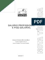 SALÁRIO PROFISSIONAL E PISO SALARIAL