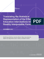 Translating the statistical representation of the effects of education interventions